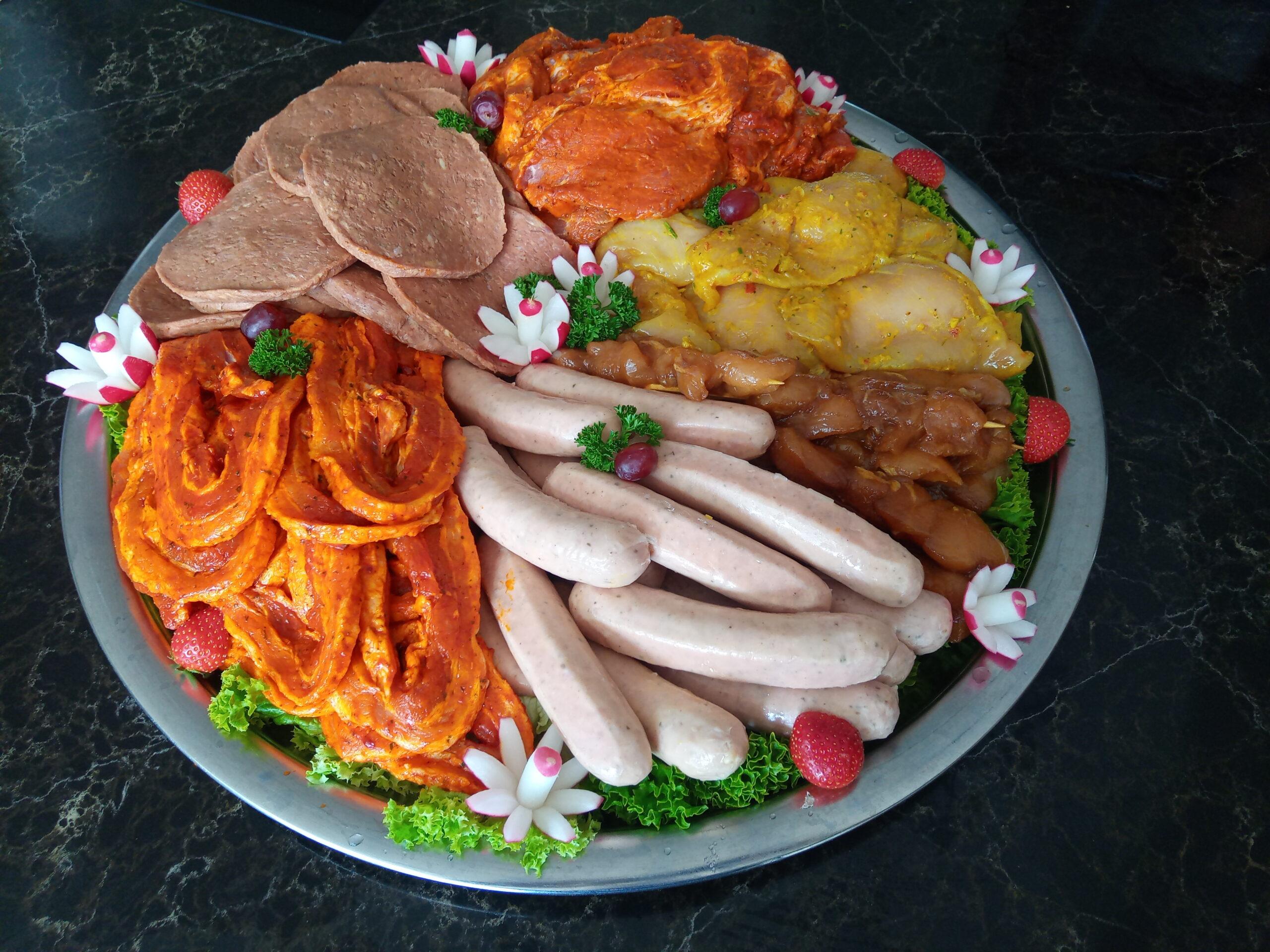 Barbecue vleesschaal